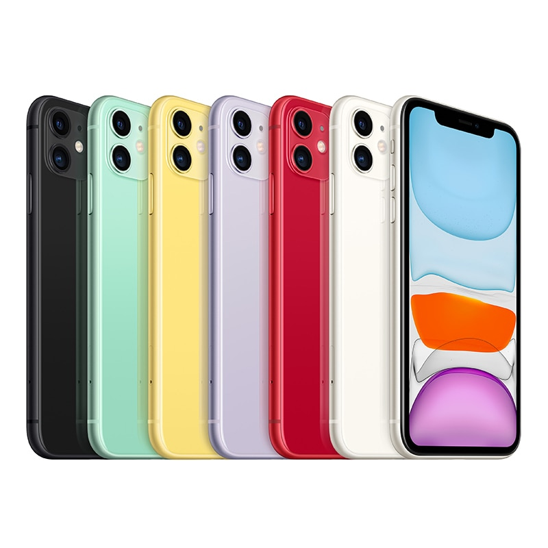 IPhone 11, purple, with 64GB internal memory and 4G LTE support (thin packaging