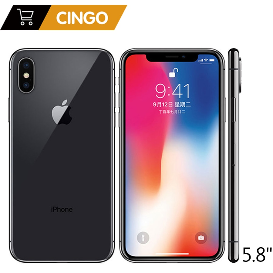 iPhone X with FaceTime Gray 64GB supports 4G LTE