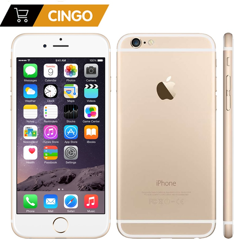 Used and refurbished - iPhone 6 with FaceTime 64GB, 4G LTE, silver color