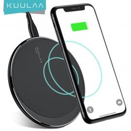 KUULAA Qi Wireless Charger for iPhone, XS Max 10W Fast Wireless Charging for Samsung